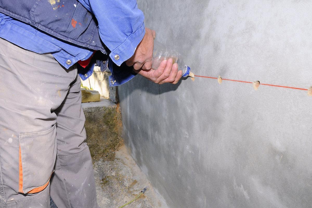 muur injecteren tegen optrekkend vocht